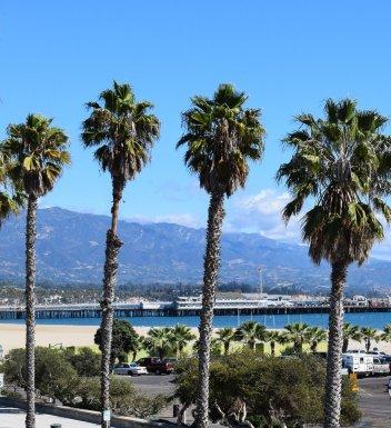 Santa Barbara's Stearns Wharf view from Beachside Inn